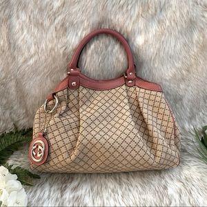 Gucci Vintage Sukey Diamanté Canvas Tote Bag
